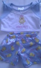 Adorable Bedtime 'Chicks Rule' 2-Piece Build-a-Bear PJ's